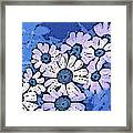 March Of The Daisies Framed Print