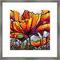 March Of The Poppies Framed Print