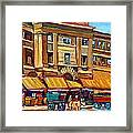Marche Bonsecours Old Montreal Framed Print