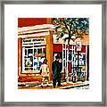 Marche Depanneur Storefront Paintings Authentic Montreal Art Prints Originals Commissions C Spandau Framed Print