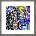 Mardi Gras Indian Framed Print