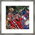 Mardi Gras Storyville Marching Group Framed Print