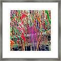 Mardi Gras Tree Framed Print