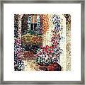 Marina's Garden Framed Print by Lenore Crawford