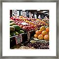 Market Fresh Framed Print