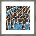 Marquette Harbor Icy Piers Framed Print