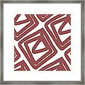 Marsala Envelopes- Abstract Pattern Framed Print