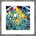 Marshmallow Fire Abstract Framed Print