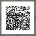 Martin Luther 1483 1546 Writing On The Church Door At Wittenberg In 1517 Framed Print
