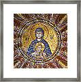 Blessed Virgin Mary And The Child Jesus Framed Print