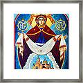 Mary And The Holy Church Framed Print