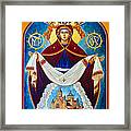 Mary In Red Framed Print