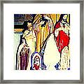 Mary Joseph And Jesus Vintage Religious Catholic Statues Patron Saints And Angels Cb Spandau Quebec Framed Print