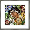 Mary Of The Orchids  Framed Print