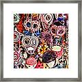 Mask Me In El Casco By Diana Sainz Framed Print