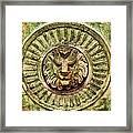 Mausoleum Lion Framed Print