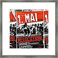 May Day 2012 Poster Calling For Revolution Framed Print
