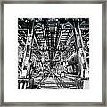 Maze Of Iron - Black And White Framed Print