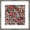 Mechanic Geometric Circle Segment Pattern Framed Print