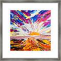 Meeting The Sun Abstract Landscape Framed Print
