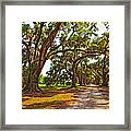 Memory Lane Oil Framed Print