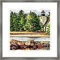 Mendota Bete Grise Lighthouse Framed Print
