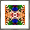 Merging Consciousness With Abstract Artwork By Omaste Witkowski  Framed Print