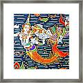Mermaid And Beast  Framed Print