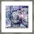 Merry Christmas Blue Framed Print by Mo T