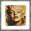 Marilyn - Colored Diamonds Framed Print