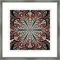 Metal Flower Framed Print