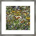 Metal Sunflowers Framed Print