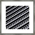 Metal Texture Oblique Framed Print