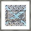 Meter Cover Framed Print
