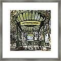 Metropolitain Entrance Paris Framed Print