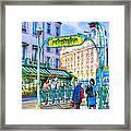 Metropolitain - Parisian Subway Street Scene Framed Print
