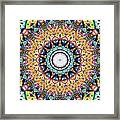 Mexican Ceramic Kaleidoscope Framed Print