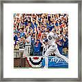 Miami Marlins V Chicago Cubs Framed Print