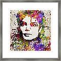Michael Jackson in Color Framed Print