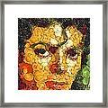 Michael Jackson In The Way Of Arcimboldo Framed Print