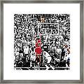 Michael Jordan Buzzer Beater Framed Print by Brian Reaves