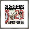 Michigan License Plate Framed Print