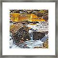 Mini Waterfall In The Porkies Framed Print