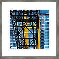 Mobile Crane Section Framed Print