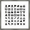 Modern Technology Internet Social Framed Print
