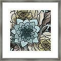 Modern Water Lily Framed Print