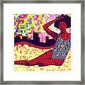 Mona Sur La Plage Urbaine Framed Print by Kenal Louis