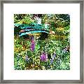Monet's Bridge In Spring Framed Print