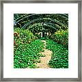 Monet's Gardens At Giverny Framed Print