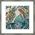 Monkey And Macaw Framed Print